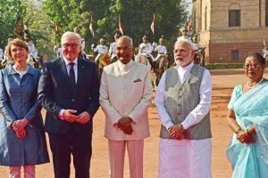 German President Steinmeier accorded ceremonial reception at Rashtrapati Bhavan