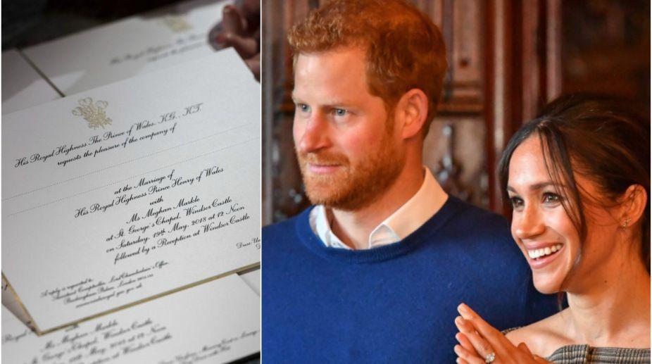 drumrolls prince harry meghan markle s royal wedding invites out drumrolls prince harry meghan markle