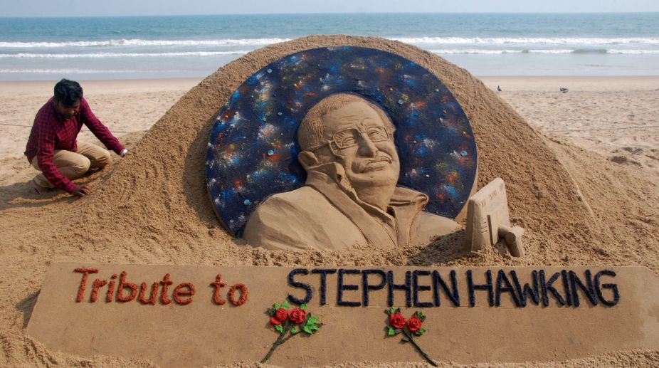 Hawking sand art