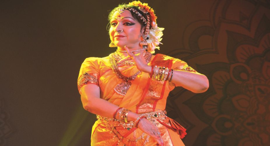 Hema Malini performing at the HCL concerts in Siri fort auditorium, New Delhi