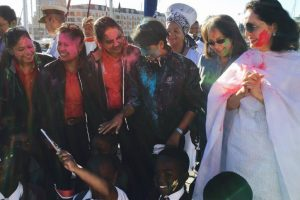 INSV Tarini reaches Cape Town, all-women crew celebrates Holi