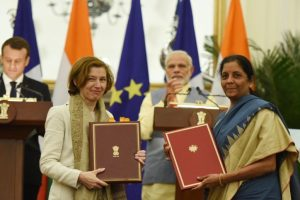 India, France sign military logistics support deal and 13 other agreements