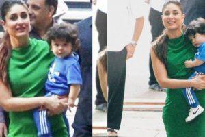 Taimur Ali Khan cuddles up in Kareena Kapoor's arms on sets