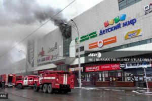 At least 37 dead, over 100 rescued in Russian shopping mall fire