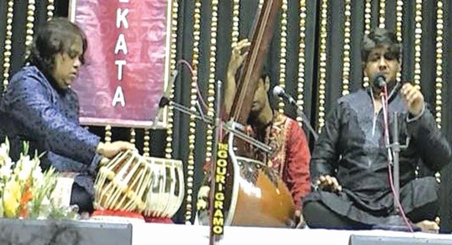Omkar Dadarkar with Hindole Majumdar and Anirban Chakraborty