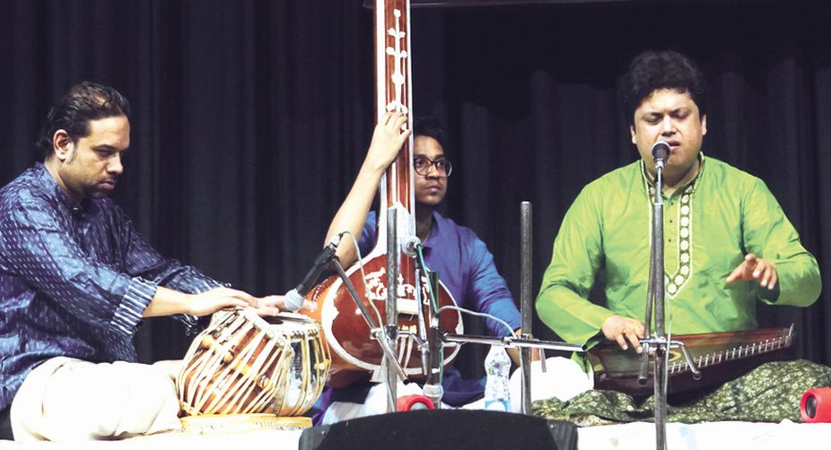 Sandip Bhattacharjee with Arup Sengupta and Gourab Chatterjee.