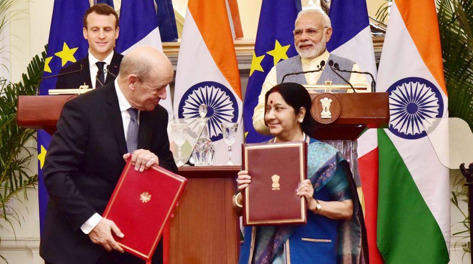 French President, Emmanuel Macron, India, Prime Minister, Narendra Modi, Sushma Swaraj