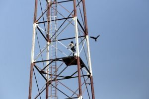 In pics: Man climbs tower in Connaught place, rescued
