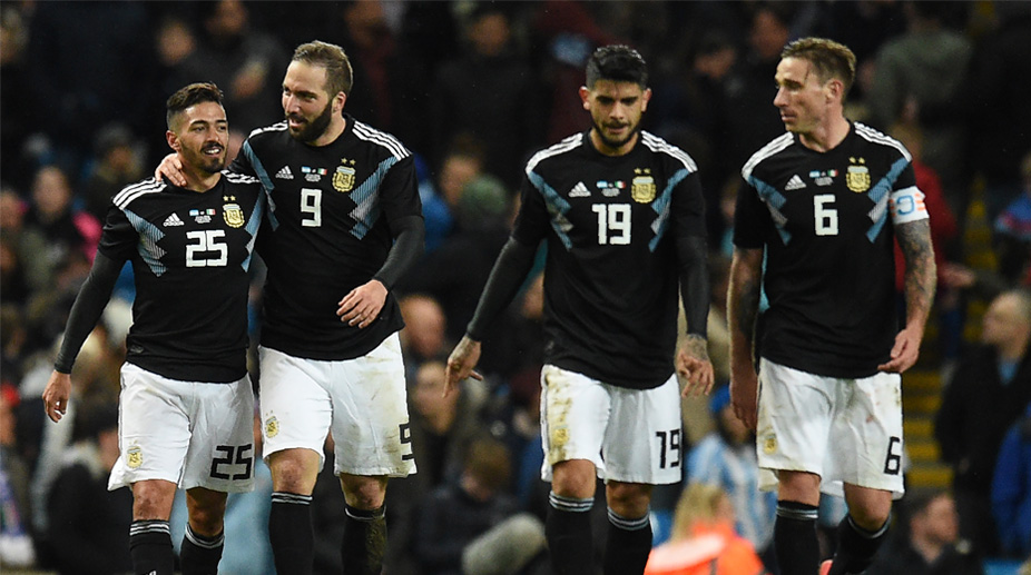 Manuel Lanzini, Gonzalo Higuain, Ever Banega, Lucas Biglia, Argentina vs Italy, International Friendlies, Argentina Football
