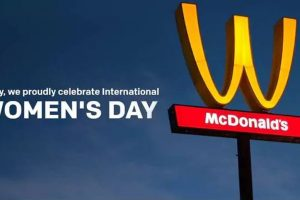 Here is why McDonald's flipped its logo upside down on Women's Day