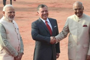 King Abdullah II accorded ceremonial welcome at Rashtrapati Bhavan