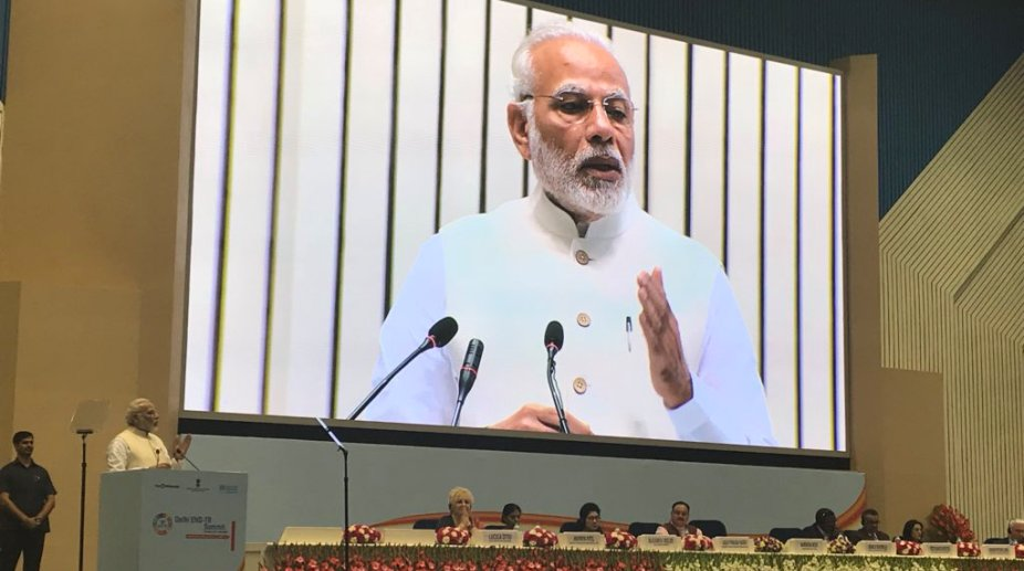 PM Modi hails Indo-French efforts for solar energy promotion