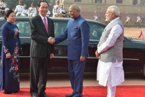 Vietnam President Tran Dai Quang accorded ceremonial welcome