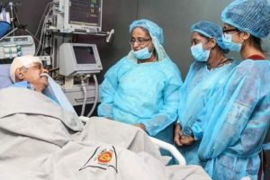 Bangladesh PM Sheikh Hasina visits writer Muhammed Zafar Iqbal in hospital