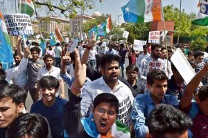 Protest against CBSE, SSC paper leaks gather steam in Delhi
