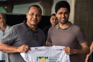 PSG president visits injured Neymar in Brazil
