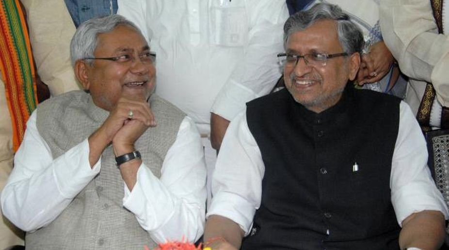 Bihar council polls, Nitish Kumar, Sushil Kumar Modi, nomination papers, Bihar CM, Bihar Deputy CM