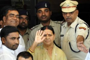 CBI visits Rabri's residence in hotel tender case; quizzes her, Lalu Yadav