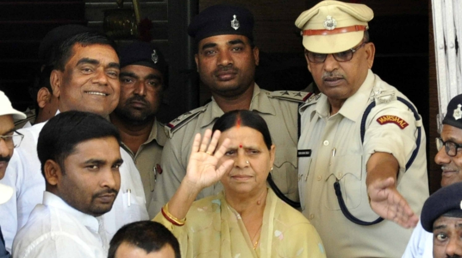Central Bureau of Investigation quizzes Rabri Devi in land-for-hotel scam
