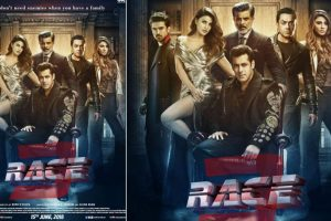 Salman Khan unveils entire 'Race 3' family