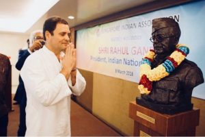 In pics: Congress President Rahul Gandhi in Singapore