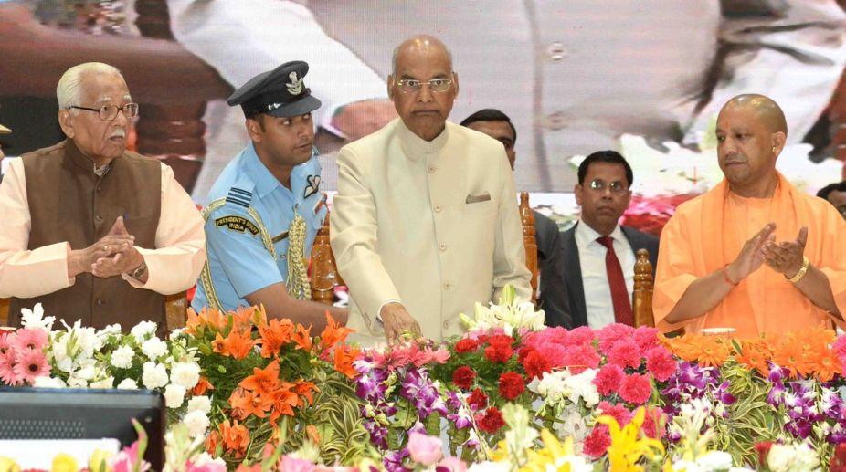 Ram Nath Kovind, President, Varanasi, Governor Ram Naik, Yogi Adityanath, Uttar Pradesh