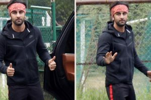 'Brahmastra' star Ranbir Kapoor seems fond of new gym buddy
