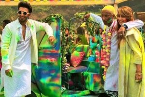 In Pics: Ranveer Singh's Holi bash with Pharrell Willams