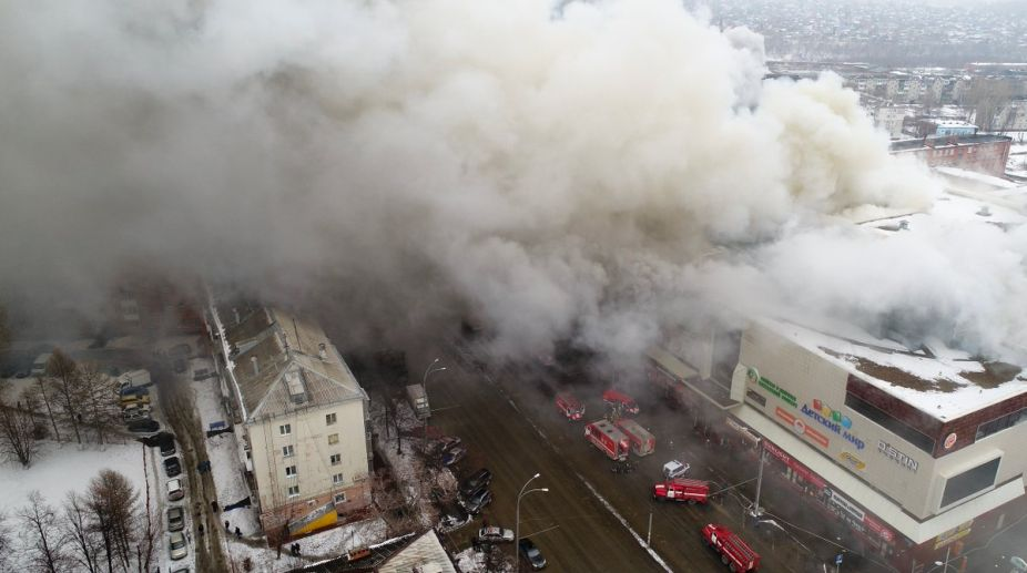Exits blocked in fatal Russian mall fire