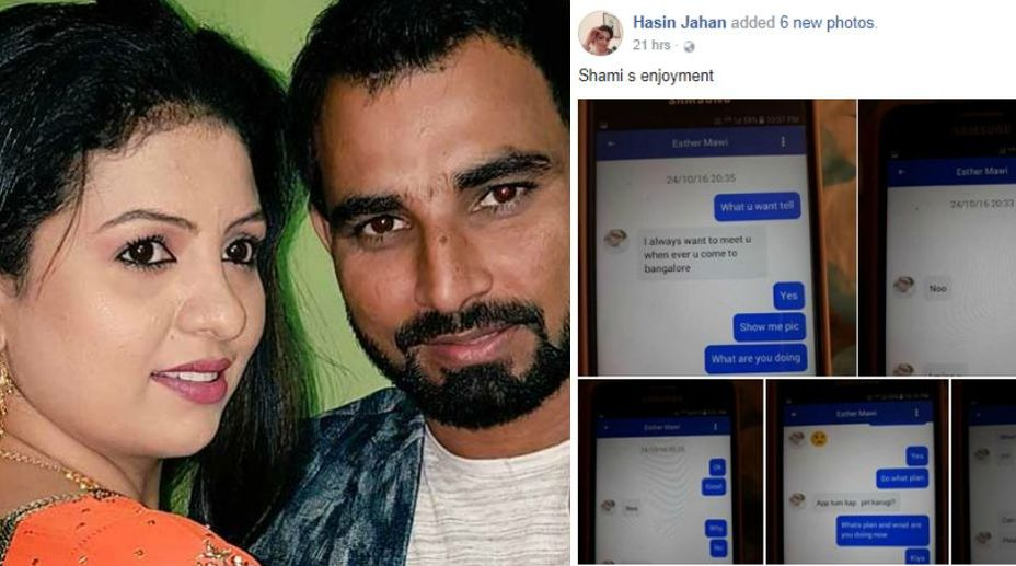Mohammed Shami's wife leaked phone conversations
