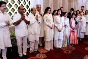 In Pics: Sridevi's prayer meet in Chennai