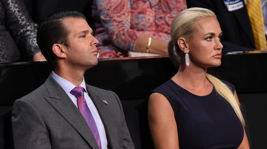Trump junior with his wife Vanessa