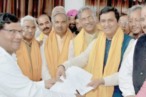 Youth BJP leader Anil Baluni files RS nomination
