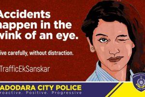 Vadodara City Police uses Priya Varrier's wink to caution traffic violators