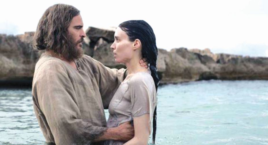 With Rooney Mara in  Mary Magdalene.