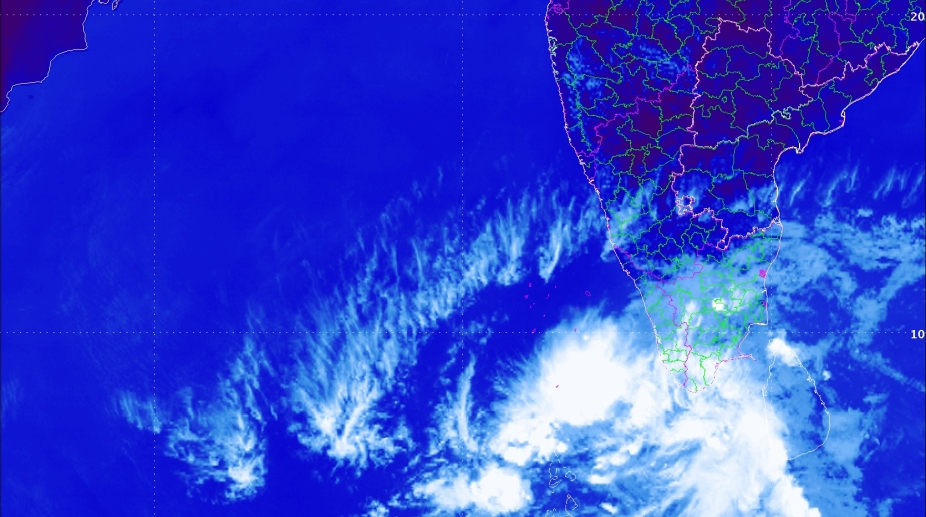 Depression building over the southeast Arabian Sea