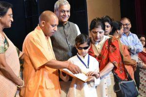 Yogi Adityanath presents Rani Lakshmibai, Begum Akhtar awards