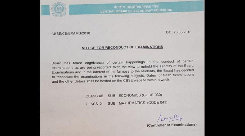 date for class 10 maths re exam