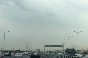 Partly cloudy Tuesday morning in Delhi