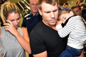 David Warner's wife Candice blames herself for his part in the ball-tampering scandal