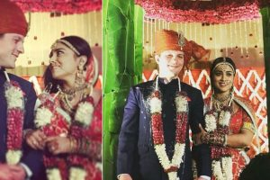In pics: Shriya Saran ties the knot with Russian boyfriend in fairytale-style wedding