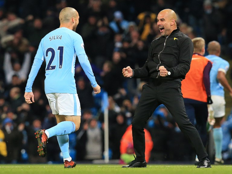 David Silva, Pep Guardiola, Manchester City F.C., Premier League, UEFA Champions League