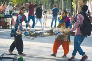 Street vendors not happy with space