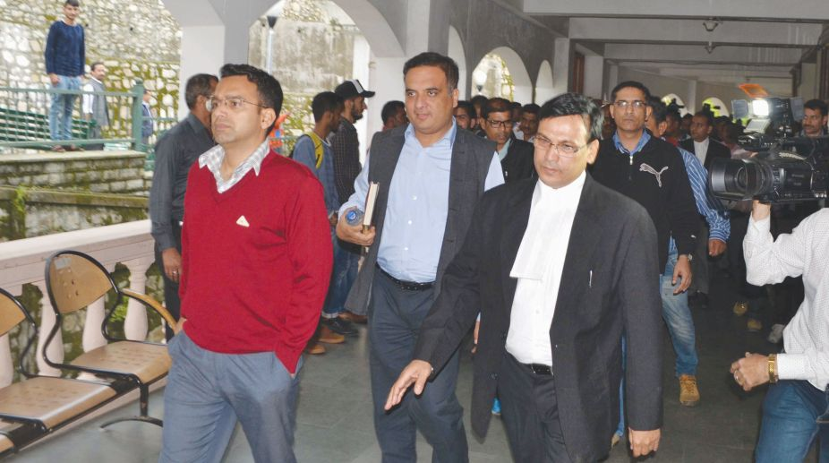 A file photo of IG Zaidi coming out of District Court in Shimla after hearing. (Photo: SNS)