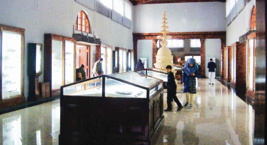A view of a hall at the Taxila Museum