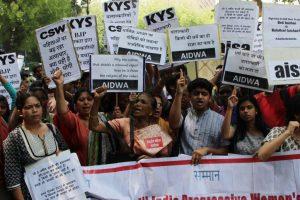 In pics: Kathua, Unnao rapes draw protests in Delhi