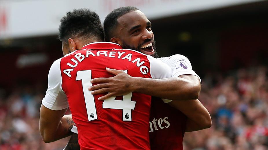 Alexandre Lacazette, Pierre-Emerick Aubameyang, Arsenal F.C., Premier League, Arsenal vs West Ham United