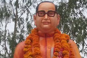 Babasaheb Ambedkar's 'saffron' statue repainted blue in UP's Badaun
