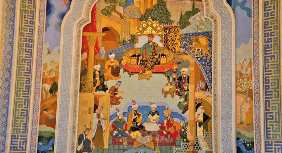 Amir Timur Mural in Tashkents Museum