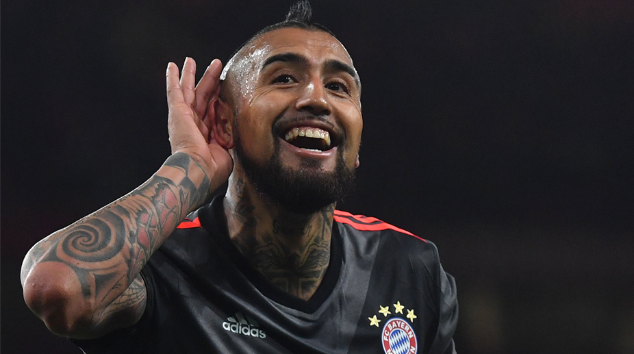 Bayern's Vidal out for rest of season after knee surgery